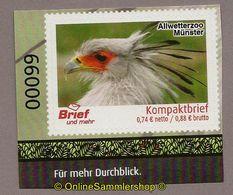 L02) Privatpost - Brief Und Mehr - Allwetterzoo Münster - Vögel - Sekretär (Sagittarius Serpentarius) - Adler & Greifvögel