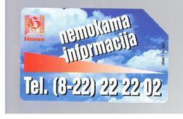 LITUANIA (LITHUANIA) -  1996 INFO HANSA - USED - RIF. 10601 - Lituania