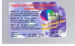 LITUANIA (LITHUANIA) -  1997 VILSAT CABLE TV - USED - RIF. 10601 - Lituania