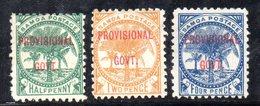 XP161 - SAMOA , Tre Valori Linguellati  * - Samoa