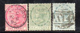 XP201 - TOBAGO , Tre Valori Usati . Fil CA - Trindad & Tobago (...-1961)