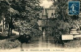 """CHALON SUR MARNE Lot De 5 Cartes """"Le Petit Jard, Statue De CARNOT, La Cathédrale, Et Le Pont Des Mariniers"""" - Châlons-sur-Marne"""