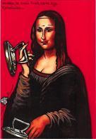 CPM Repassage Fer à Repasser Jihel Tirage Signé Numéroté En 30 Exemplaires Joconde Mona Lisa Léonard De Vinci - Artisanat