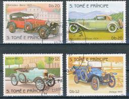 TOME E PRINCE : Voitures, 4 Valeurs, Mercedes-Benz (1927), Mercedes Cabriolet (1924), Morris (1913), Delage (1910) - Coches