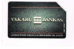 LITUANIA (LITHUANIA) -  1995 VAKARU BANK                - USED - RIF. 10630 - Lituania
