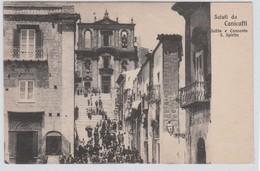 Cartolina -  Saluti Da Canicatti' - Salita E Convento S. Spirito - Agrigento
