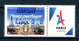 Paris 2024 - Timbre Surchargé Lima 13/09/2017 - Neuf Xxx - T 645 - France