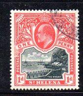 XP1532 - ST HELENA , 1 D. Yvert N. 30 Usato - Isola Di Sant'Elena