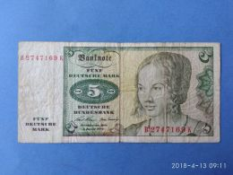 5 Marki 1960 - [ 7] 1949-… : FRG - Fed. Rep. Of Germany