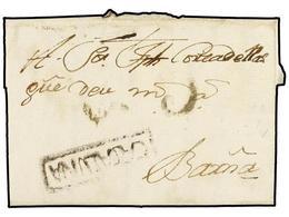 7 ESPAÑA: PREFILATELIA. 1799. TARRASSA A BARCELONA. Marca <B>CATALUÑA</B> En Tinta De Escribir (nº 3). MUY BONITA Y RARA - Timbres