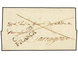 14 ESPAÑA: PREFILATELIA. (1830 CA.). IGUALADA A TARRAGONA. Carta Completa Con Lugar De Origen, Día Y Mes Sin El Año. Mar - Timbres