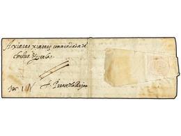 26 ESPAÑA: PREFILATELIA. 1589. ROMA A PUENTE LA REYNA (Navarra). Carta Completa, Manuscrito <I>'P. Pagado'</I>, Precioso - Timbres