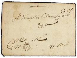 28 ESPAÑA: PREFILATELIA. 1613. Carta Completa Dirigida A MADRID, Lugar De Origen Ilegible (probablemente Alguna Població - Timbres