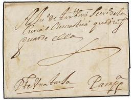 30 ESPAÑA: PREFILATELIA. 1643. VIANA A PAMPLONA. Carta Completa, Manuscrita <I>'Pte. Una Tarja'</I>. - Timbres