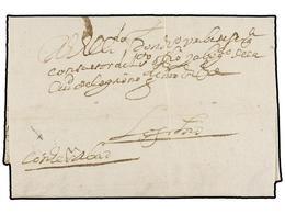 31 ESPAÑA: PREFILATELIA. 1655. LOS ARCOS A LOGROÑO. Carta Completa, Manuscrito<I>'Con...abad' </I>(nombre Del Portador D - Timbres
