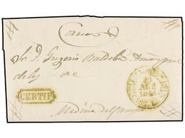34 ESPAÑA: PREFILATELIA. 1844. VILLALPANDO A MEDINA DEL CAMPO. Carta Completa Con Texto, Fechador <B>VILLALPDO./CAST. LA - Timbres