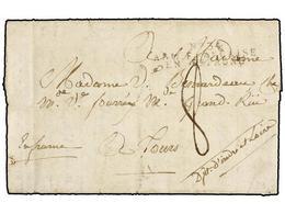 40 ESPAÑA: PREFILATELIA. 1810. <B>EJÉRCITOS FRANCESES. </B>SEGOVIA A FRANCIA. Marca<B> Nº 34/ARM. FRANCAISE/EN ESPAGNE</ - Timbres