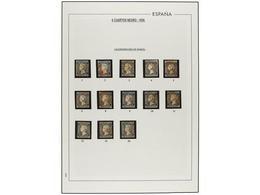 60 ° ESPAÑA. Ed.1. <B>6 Cuartos</B>  Negro.<B> CALENDARIO DEL MES DE MARZO</B> Del 1 Al 26 (solo 13 Sellos). Fechas Perf - Timbres