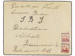 912 ESPAÑA GUERRA CIVIL. 1938. <B>BRIGADAS INTERNACIONALES. </B>ALQUIRIA DEL SERAFI (Valencia) A BENICASIM. Sobre Dirigi - Stamps