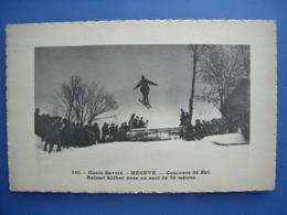 Megève. Concours De Ski: Kléber Balmat Dans Un Saut De 30 Mètres, TBE. - Megève