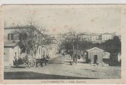 Cartolina -  Caltanissetta - Viale Stazione - Caltanissetta