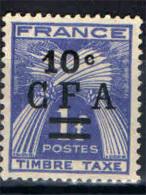 REUNION - 1949 -SFIGHE DI GRANO - 10 C. SU 1 F. - USATO - Impuestos