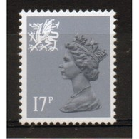Regional Definitive Welsh 17p Grey-Blue Stamp From 1986. This Stamp Is Listed As Catalogue Number W44ea. - Wales