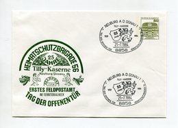 BRD UMSCHLAG 1984 BUNDESWEHR ERSTES FELDPOSTAMT IM TERRITORIALHEER NEUBURG DONAU - [7] Federal Republic