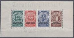 DR Block 2 (formatverkleinert), Postfrisch **, Marken Geprüft SCHLEGEL, 10 Jahre Deutsche Nothilfe 1933 - Ungebraucht