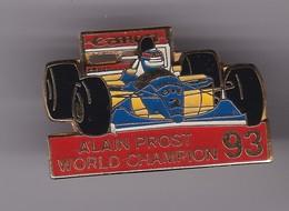 Pin's ALAIN PROST WORD CHAMPION 9. - F1