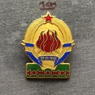 Badge (Pin) ZN006786 - Military (Army) Insignia Border Patrol Carina Yugoslavia - Army