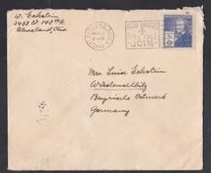 USA: Cover To Germany, 1940, 1 Stamp, Cancel Red Cross, Censored, German Censor Tape, World War, WW2 (minor Damage) - Briefe U. Dokumente