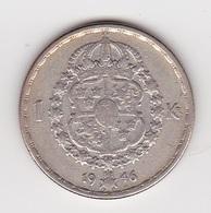 1 Krone Münze Aus Schweden (sehr Schön Bis Vorzüglich) Von 1946 Silber - Schweden