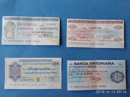 4 Miniassegni Banche Diverse  2 - [10] Assegni E Miniassegni