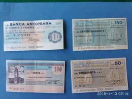 4 Miniassegni Banche Diverse  3 - [10] Assegni E Miniassegni