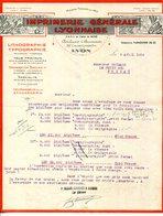 LITHOGRAPHIE.TYPOGRAPHIE.IMPRIMERIE GENERALE LYONNAISE 32 COURS GAMBETTA.LYON. - Imprimerie & Papeterie