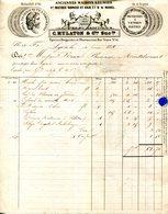 EPICIERS.DROGUISTES & PHARMACIENS C.MULATON & Cie.12 RUE NEUVE.TIMBRE & CACHET 1855. - Chemist's (drugstore) & Perfumery