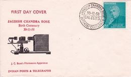 Lettre INDIA Calcutta Jagadish Chandra Bose Radio Physicien Inde Bikrampur - Célébrités