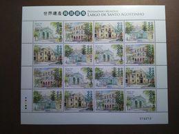 Macau Macao 2010 World Heritage Patrimonio Mundial Stamp Full Sheet - Unused Stamps