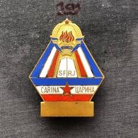 Badge (Pin) ZN006845 - Military (Army) Insignia Border Patrol Carina Yugoslavia - Militari