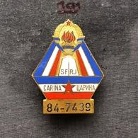 Badge (Pin) ZN006847 - Military (Army) Insignia Border Patrol Carina Yugoslavia #84-7439 - Militaria