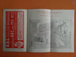 DEPLIANT PUBLICITAIRE  AVEC PLAN GENERAL DES BASSINS DE SAINT MALO COURSE D'HYDRO-AEROPLANES HYDRAVION 08 / 1912 - Dépliants Touristiques