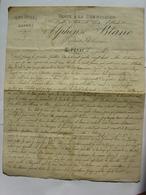 TESTAMENT MANUSCRIT 1888 LOUIS BLACHET SAINT PERAY ARDECHE PAPIER ALPHONSE BLANC VENTE A LA COMMISSION VINS HUILES SAVON - Manuscripts