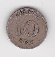 10 Öre Münze Aus Schweden (sehr Schön) Von 1916 Silber - Schweden