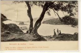 CORFOU  CORFU  CANONI   ED. DEBIT DE TABAC CIGARETTES ET CIGARES HAVANE SAINT GEORGES  Ca 1900 - Greece