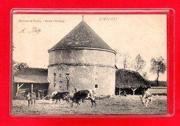 27-CPA CIVIERES - FERME D'AUBIGNY - Autres Communes