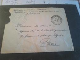 LETTRE CAPITAINE DE VAISSEAU COMMANDANT Avec Griffe BATTERIE DES CANONNIERS ET MARINS 1916 - Marcophilie (Lettres)