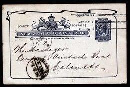 A5370) Neuseeland New Zealand Bankkarte 23.05.06 N. Calcutta / India - 1855-1907 Kronenkolonie