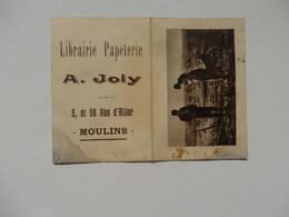 Petit Calendrier De La Librairie Papeterie A. Joly 5, Et 56 Rue D'Allier à Moulins (03). - Calendars