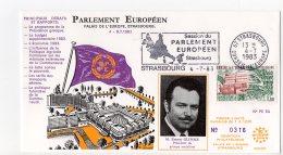 1983 - Strasbourg - Conseil De L'Europe - Parlement Européen - Monsieur Ernest GLINNE Président Du Groupe Socialiste - Europese Instellingen